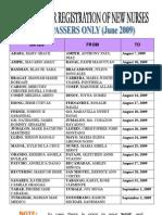 PRC Registration Schedule for Cebu (NLE June 2009)