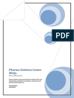 pharma solution center mcqs