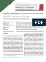Fotoactivados clorofilina películas a base de gelatina y recubrimientos para prevenir la contaminación microbiana de los alimentos