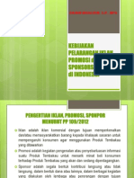 Kebijakan Pelarangan Iklan, Promosi Dan Sponsorship Rokok