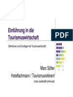 Einfuerhung in Die Tourismuswirtschaft