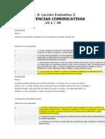 Lección Evaluativa 2 COMPETENCIAS COMUNICATIVAS    34.2 - 38