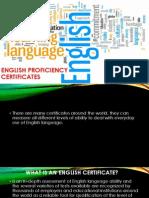 English Proficiency Certificates 1