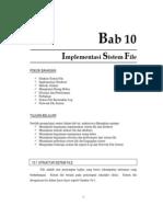10.Implementasi Sistem File