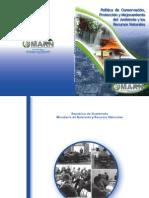 Politica Conservacion Protecc y Mej Del Ambiente