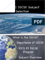 SEC 2 IGCSE Presentation RICS Pondok Indah