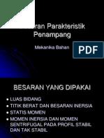 A.besaran Parakteristik Penampang