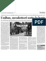 Unibas, In aumento gli studenti provenienti da ambienti sociali meno favoriti