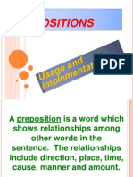Preposition Usage & Implementation