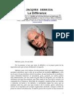 La Différance - Jacques Derrida