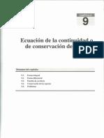 Tema9 - Ecuación de la continuidad o de la conservación de la masa