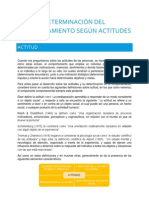 DETERMINACIÓN DEL COMPORTAMIENTO SEGÚN ACTITUDES