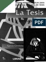 La tesis y el trabajo de tesis.pdf