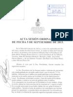Acta Sesión Ordinaria 05-09-2013