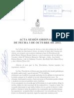Acta Sesión Ordinaria 03-10-2013