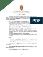 Acta Junta Municipal Distrito Beiro Octubre 2013