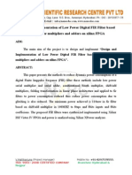 Design and Implementation of Low Power Digital FIR Filter based on low power multipliers and adders on xilinx FPGA.doc
