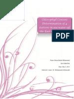 Chlorophyll Determination Report