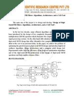 Design of Digit Serial FIR Filters.doc