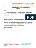 Design of Plural-Multiplier Based on CORDIC Algorithm for FFT Application.doc