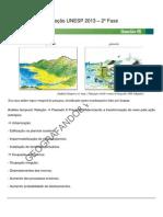 Correção UNESP 2013 Geografia - 2ª Fase
