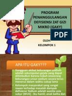 Program Penanggulangan Defisiensi Zat Gizi Makro (Gaky