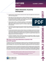 Keeping the multiple dimensions of povertyat the heart of development