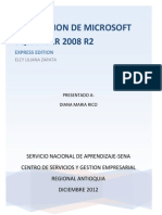 Descargar Microsoft SQL SERVER 2008