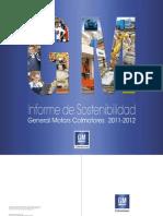 Informe Sostenibilidad GM Colmotores 2011-2012 Para Web