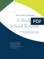 21 Bridge to School Reform