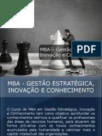MBA - Gestão Estratégica, Inovação e Conhecimento - Grupo Educa+ EAD