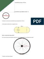 exercicios comprimento circunferencia