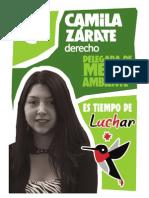 Programa Camila Zárate - Delegada de Medio Ambiente Fech 2014 - LISTA C