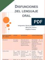 Disfunciones Del Lenguaje Oral