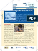 Specific Learning Difficulties and Vision