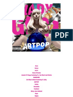Digital Booklet - ARTPOP
