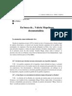 En Busca de... Valeria Mapelman, Documentalista
