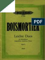 Boismortier_Joseph-Bodin-de - Leichte Duos für Alt-Blockfloete - Duette Op-11 for 2 treble recorder noten sheets