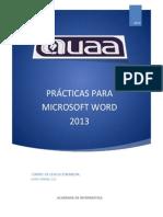 Practicas Para Microsoft Word 2013jul31