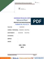 Proyecto de Investigacion Formato
