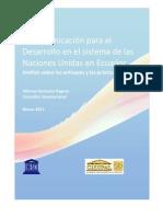 54727446 La Comunicacion Para El Desarrollo en El Sistema de Las Naciones Unidas en Ecuador