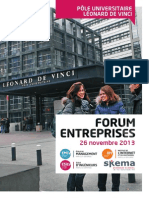 Forum Entreprises 2013 du Pôle Universitaire Léonard de Vinci