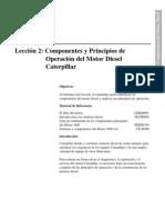 Componentes y Principios de Operacion Del Motor Diesel CAT