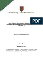 Cajas Rurales de Ahorro y Crédito en el Perú