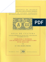 Literatura y Sociedad Los Teatros en Casas Particulares en El Siglo Xix 0