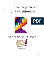 Programa de Gobierno - Roxana Miranda (2014-2018)