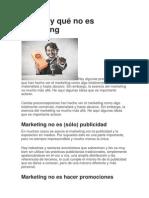 Qué es y qué no es marketing