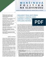 Mensinova politika na Slovensku 3/2013 - Cvek