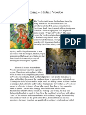 Death and Dying   Haitian Vodou   Funeral