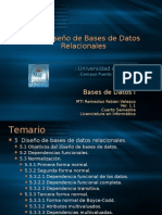 Bases de Datos I. Tema V. Diseño de Bases de Datos Relacionales